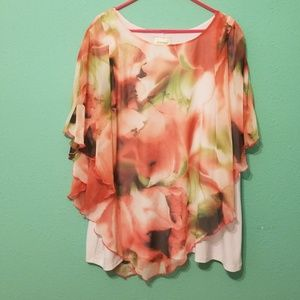 Flowered blouse by Avenue.